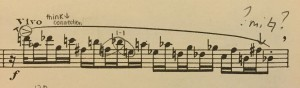 I get it, Francaix. I'll practice my scales more!